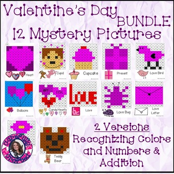 Valentine's day Mystery Pictures BUNDLE- 12 Pictures Addit