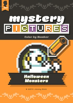 Mystery Pictures: Color By Number Writing Activity Hallowe