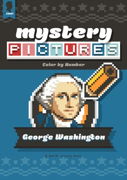 Mystery Pictures: Color By Number Writing Activity Patriot