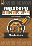 Mystery Pictures: Color By Number Writing Activity Thanksgiving