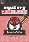Mystery Pictures: Color By Number Writing Activity Valenti