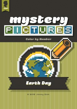 Mystery Pictures: Color By Number Writing Activity Earth Day