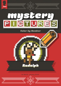 Mystery Pictures: Color By Number Writing Activity Christm