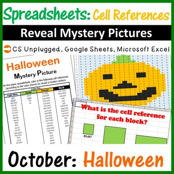 Mystery Pictures - Excel Spreadsheets Cell References (Pap