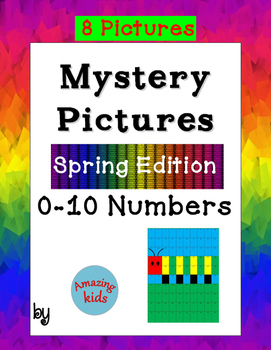 Mystery Pictures - Spring Edition 0-10 Numbers