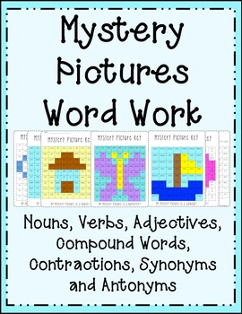 Mystery Pictures {Parts of Speech} Nouns, Verbs, Adjective