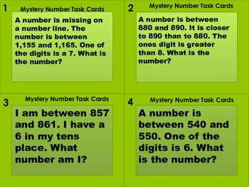 Mystery Place Value Cards 24