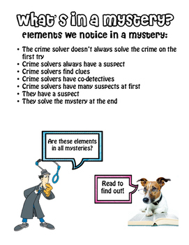 Mystery Reading Elements (goes with TC Mystery Unit)