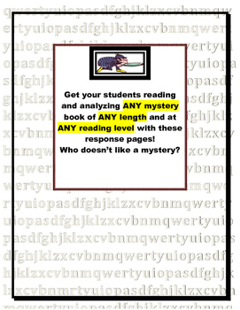 Mystery Book Report: Reading Response Pages (genre/novel s