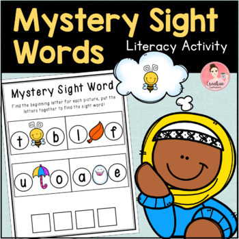 Mystery Sight Words Literacy Centers