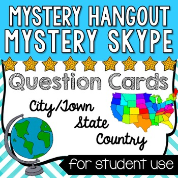 Mystery Skype/Mystery Hangout Questions - Cards for countr