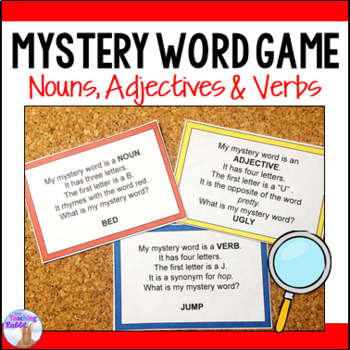 Nouns, Adjectives and Verbs Game