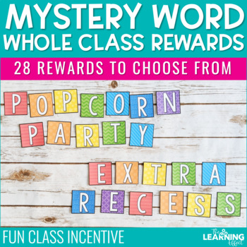 Mystery Word Whole Class Rewards