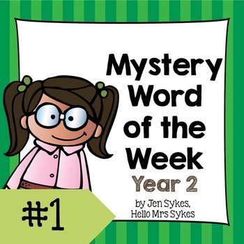 Mystery Word of the Week 1, Year 2