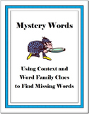 Mystery Words - Using Context and Word Family Clues to Fin