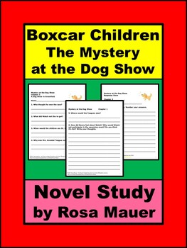 Mystery at the Dog Show Boxcar Children Book Unit