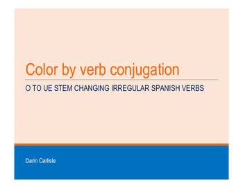 Mystery picture - Color by Spanish verb conjugation o to u