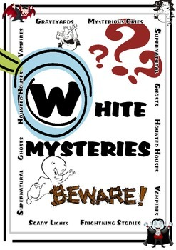 Mystery story game - White stories - Great for Halloween!