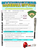 Mythbusters : Baseball Myths (video worksheet)