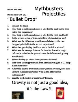"Mythbusters  ""Bullet Drop"""