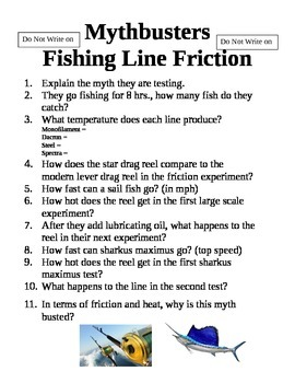 Mythbusters Fishing Line Friction