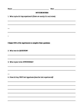 mythbusters scientific method worksheet worksheets releaseboard free printable worksheets and. Black Bedroom Furniture Sets. Home Design Ideas
