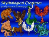 Mythological Creatures Clip Art Collection- Blackline and