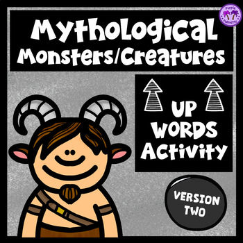 "Mythological Creatures/Monsters ""Up-Words"" Activity (Version Two)"