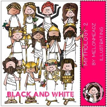 Mythology 2 by Melonheadz BLACK AND WHITE