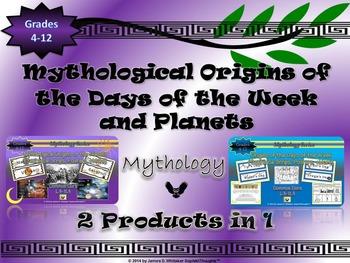 Mythology Etymological Origins of the Days of the Week & Planets