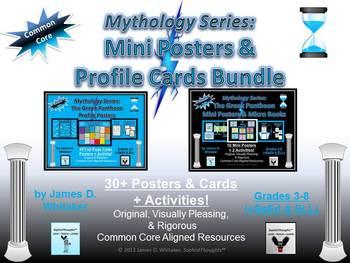 Mythology Greek Gods Mini Posters and Profile Cards Common Core