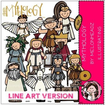 Mythology by Melonheadz LINE ART