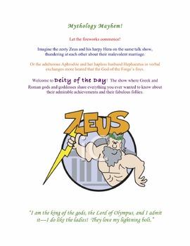 Mythology Mayhem:  Deity of the Day
