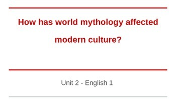 Mythology and Modern Culture