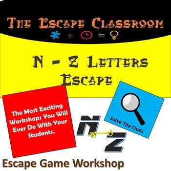 N - Z Letters Escape Workshop