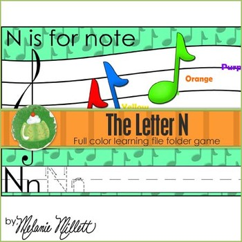 N is for Note File Folder Game