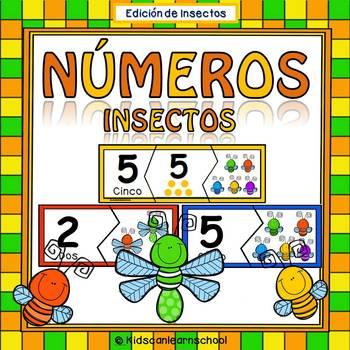 Nύmeros 0-10- Rompecabezas de Insectos