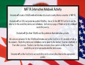 NAFTA Interactive Notebook Activity with QR Codes