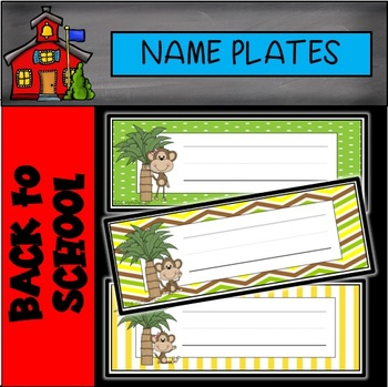 Monkey Editable Name Plates