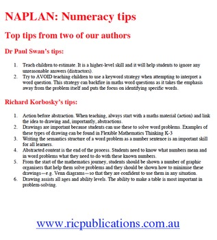 NAPLAN: Numeracy Tips