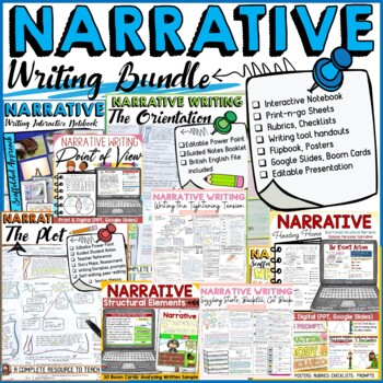 NARRATIVE WRITING:  INTERACTIVE NOTEBOOK {COMMON CORE ALIGNED}