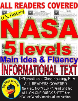 NASA FACTS Close Read Article 5 Levels Differentiated Flue