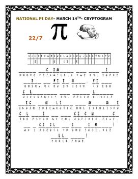 PI DAY- A CRYPTOGRAM