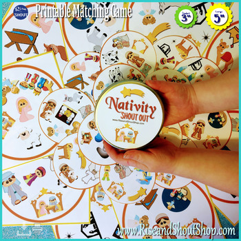 NATIVITY Matching Game SHOUT OUT; 31 Christ-center Christm