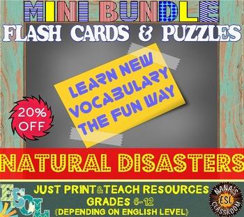 NATURAL DISASTERS (ESL): MINI BUNDLE (flash cards and voca