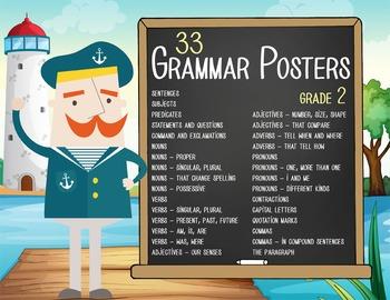 NAUTICAL - 2nd grade GRAMMAR posters / Scott Foresman Reading