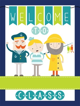 NAUTICAL lime - Classroom Decor: WELCOME Poster - 18 x 24,