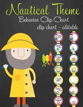 NAUTICAL lime - Clip Chart BEHAVIOR, EDITABLE