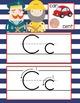 NAUTICAL red - Alphabet Cards, Handwriting, Cards, ABC pri