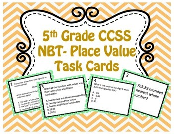 Place Value Task Cards {5th Grade Math}